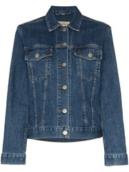 Burberry Rowledge Embroidered Jacket Blue