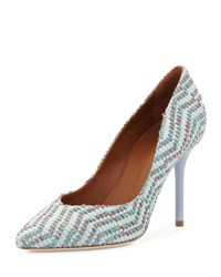 Malone Souliers Brenda Woven Jacquard Pump Green Dusty Blue Green Pattern