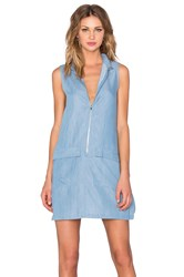 State Of Being Chambray Shirt Dress Blue