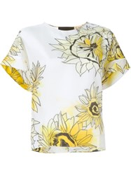 No21 Sunflower Print Blouse White