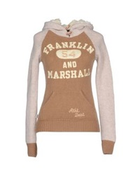 Franklin And Marshall Sweaters Camel