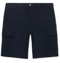 Brunello Cucinelli Cotton Blend Cargo Shorts Midnight Blue