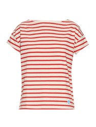 Orcival Breton Stripe Cotton T Shirt Red Stripe