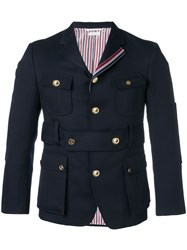 Thom Browne Norfolk High Break Sport Coat Blue