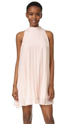 Cupcakes And Cashmere Holly Shimmer Pleated Trapeze Dress Light Pink