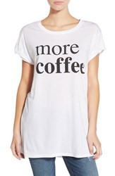 Women's Ten Sixty Sherman 'More Coffee' Oversize Graphic Tee