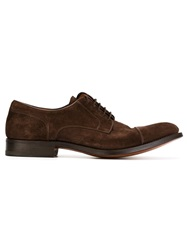 Santoni Classic Derby Shoes Brown