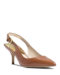Michael Michael Kors Pointed Toe Slingback Pumps Kelsey Kitten Heel