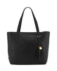 Cole Haan Ivy Pic Stitch Tote Bag Black