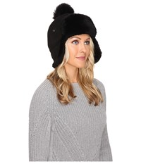 Ugg Sheepskin Pom Hat Black Cold Weather Hats