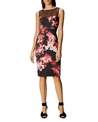 Karen Millen Midnight Orchid Pencil Dress Multi