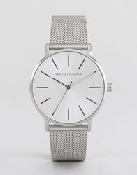 Armani Exchange Ax5535 Mesh Watch In Silver