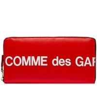 Comme Des Garcons Sa0110hl Huge Logo Wallet Red