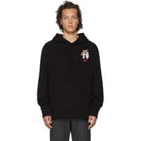 Ralph Lauren Purple Label Black Ski Bear Hoodie