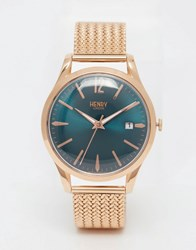 Henry London Stratford Mesh Watch In Gold