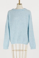 Acne Studios Dramatic Wool And Mohair Sweater Dusty Blue