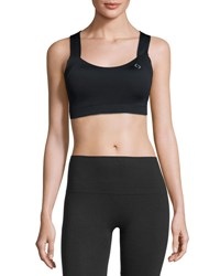 Brooks Uplift Crossback Sports Bra C D Black