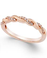 Macy's Diamond Twisted Band 1 8 Ct. T.W. In 14K Yellow White Or Rose Gold