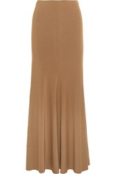Donna Karan Jersey Maxi Skirt Brown