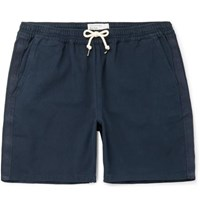 Universal Works Cotton Canvas Drawstring Shorts Navy
