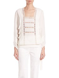 Derek Lam Embroidered Lace Blouse White