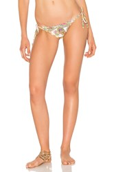 Pilyq Embroidered Lettuce Teeny Bikini Bottom Tan