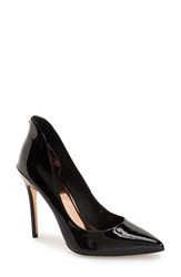 Ted Baker Women's London 'Savenniers' Pointy Toe Pump Black Patent