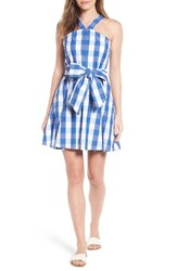 Draper James Women's Mary Beth Cotton Sundress Blue Parton Check
