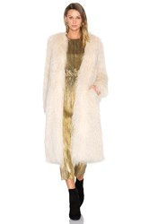 House Of Harlow X Revolve Marisa Faux Fur Coat Ivory