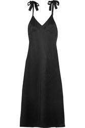 Reformation Silk Maxi Dress Black