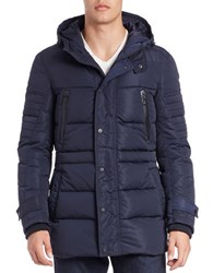 7 For All Mankind Quilted Down Parka Navy