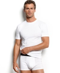 Alfani Men's Underwear Crew Neck T Shirt 4 Pack White