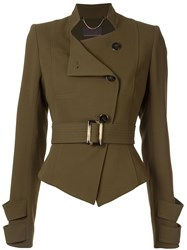 Ginger And Smart Advocate Belted Jacket Green