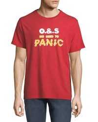 Ovadia And Sons Panic Graphic T Shirt Red