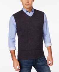 Weatherproof Vintage Men's Sweater Vest Only At Macy's Light Charcoal Heather