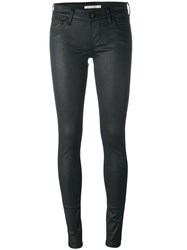 Levi's Wax Effect Skinny Jeans Black