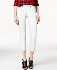 Hue Original Denim Capri Leggings White