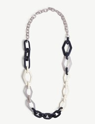 Max Mara Tivoli Resin Necklace Blue Mutli
