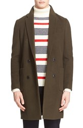 Tomorrowland Men's 'Charme Beaver' Double Breasted Wool Blend Coat