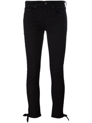 Rag And Bone Jean Knot Detail Skinny Jeans Black