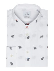 Paul Smith Men's Ps By Zebra Coupe Shirt White
