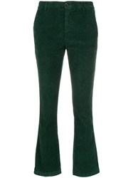 Department 5 Cropped Corduroy Trousers Green