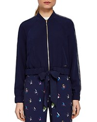 Ted Baker Colour By Numbers Imeelia Track Jacket Navy