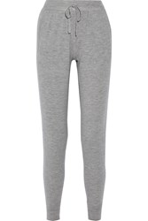 Donna Karan Cashmere Blend Track Pants Gray