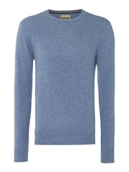 Howick Men's Cashmere Crew Neck With Gift Box Denim
