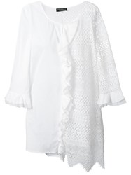 Twin Set Embroidered Tunic White