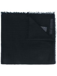 Rick Owens Frayed Edge Scarf Black