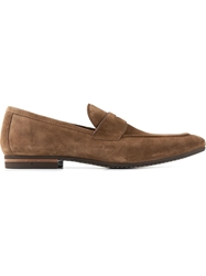 Henderson Fusion Penny Loafers Brown