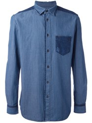 Diesel Tonal Stripe Shirt Blue