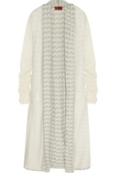 Missoni Layered Crochet Knit Cardigan White